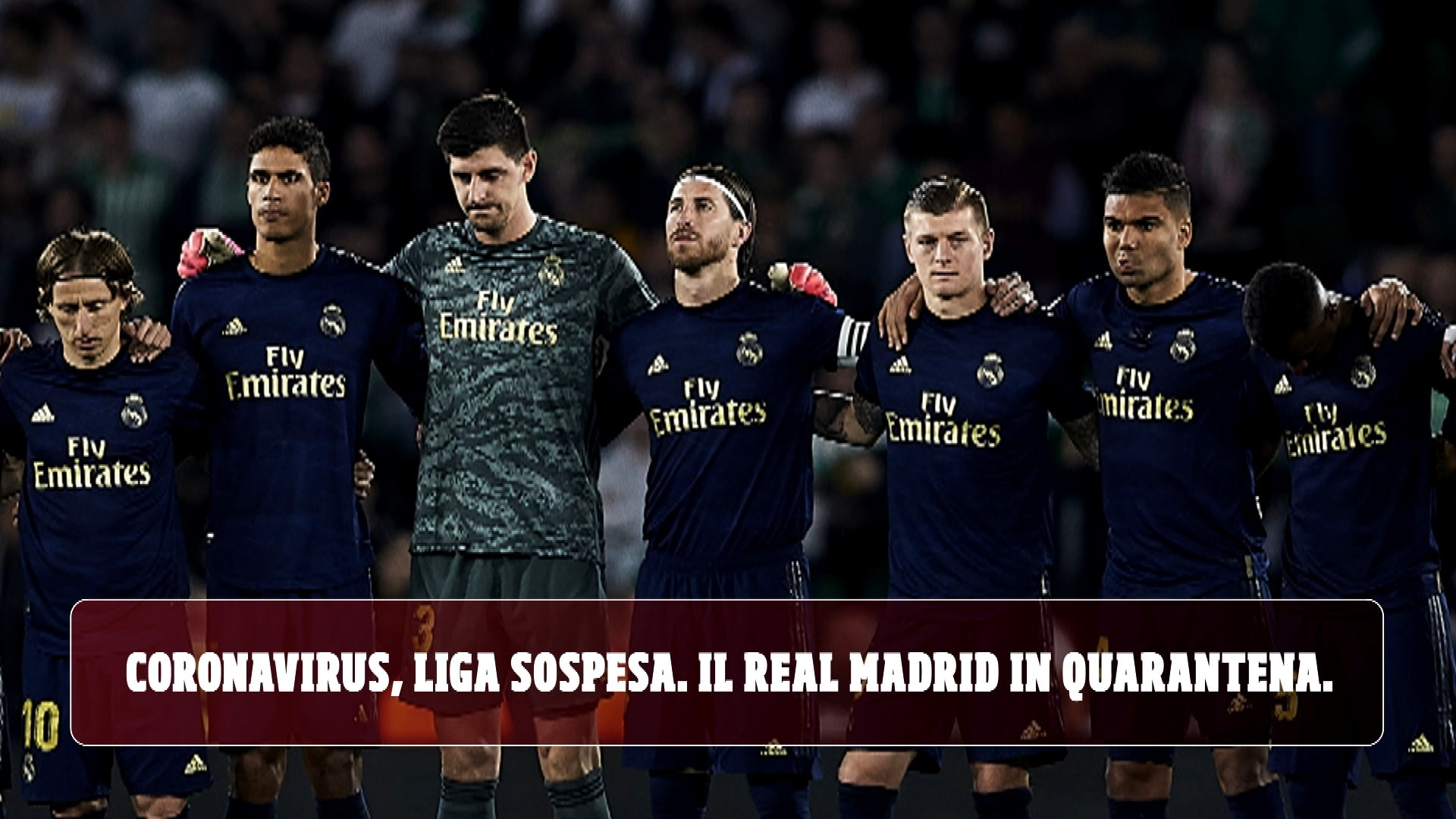 Coronavirus, Liga sospesa. Il Real Madrid in quarantena!