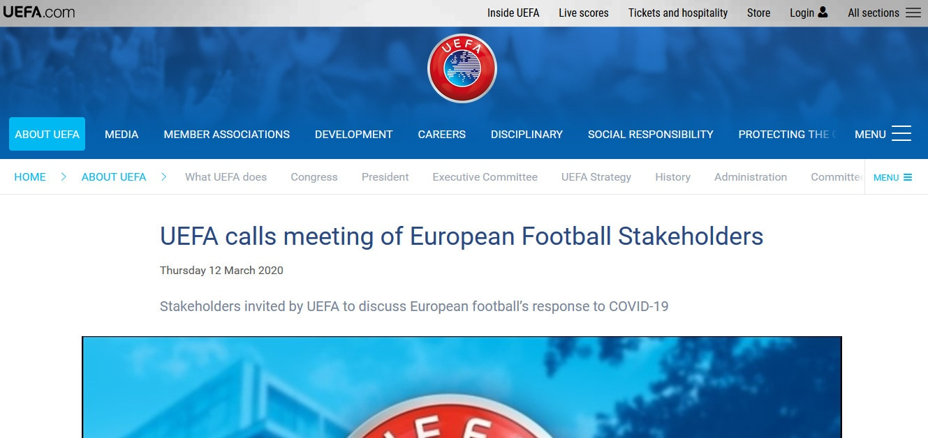Uefa, Champions e Europa League a rischio