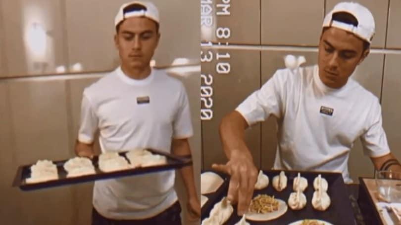 Juve, Dybala talento anche in cucina durante la quarantena