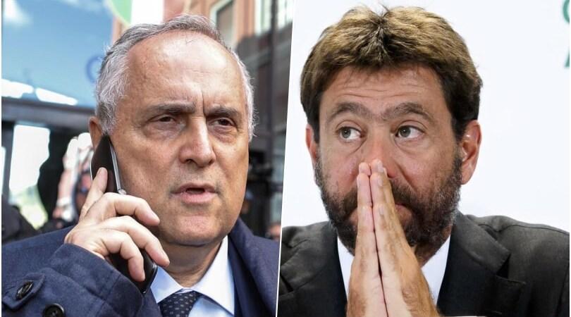 """Lotito e Agnelli, frecciate a distanza: """"Viene prima la classifica della salute?"""""""