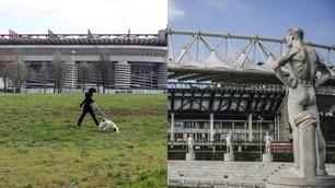 Coronavirus: domenica di vuoto intorno agli stadi d'Italia