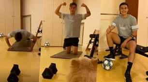 Dybala in forma perfetta: ecco come si allena a casa