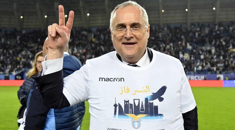 Lazio, scende in campo pure Lotito: discorso alla squadra prima dell'Atalanta
