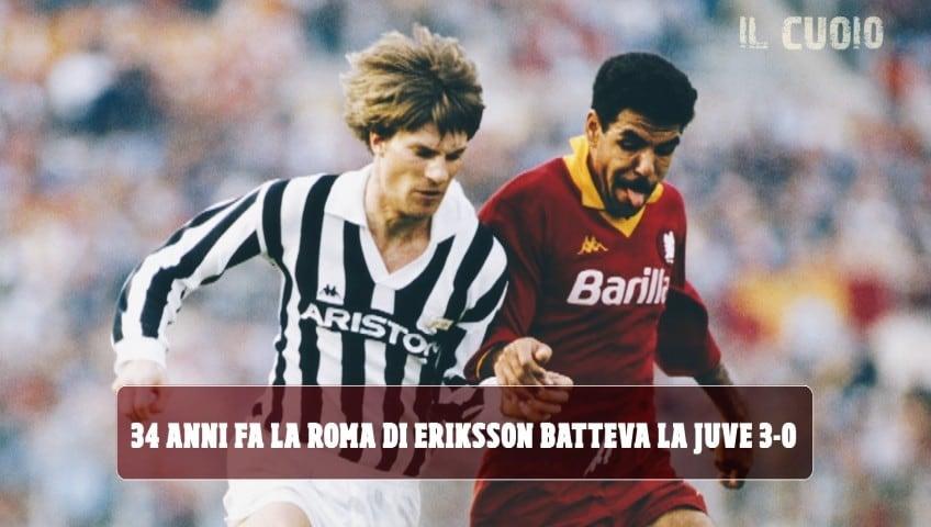 16 marzo 1986, all'Olimpico Roma-Juve finisce 3-0