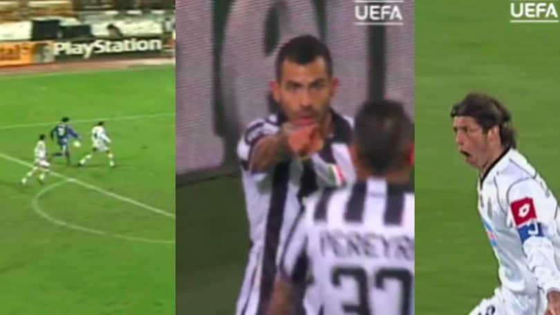 Uefa, omaggio alla Juve: i gol di Tacchinardi, Del Piero e Tevez sui social