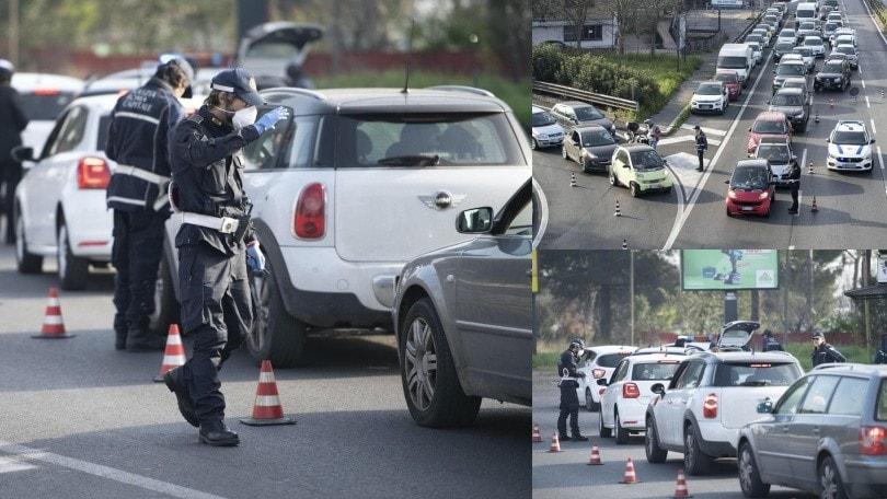 Coronavirus, Roma: controlli a tappeto per auto e moto