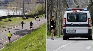 Coronavirus, runner a Roma: controlli della Polizia a Ponte Milvio
