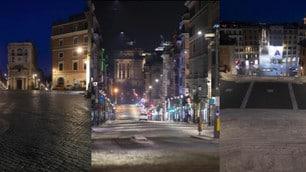 Coronavirus, Roma spettrale di notte