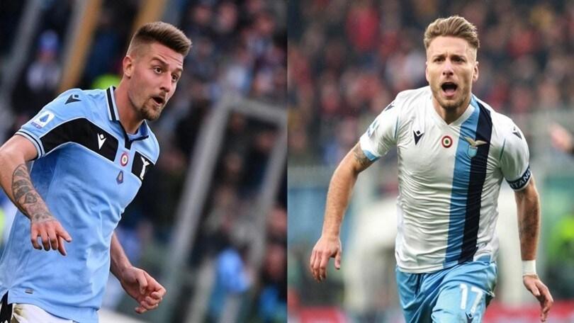 Lazio, Immobile e Milinkovic sono gli intoccabili