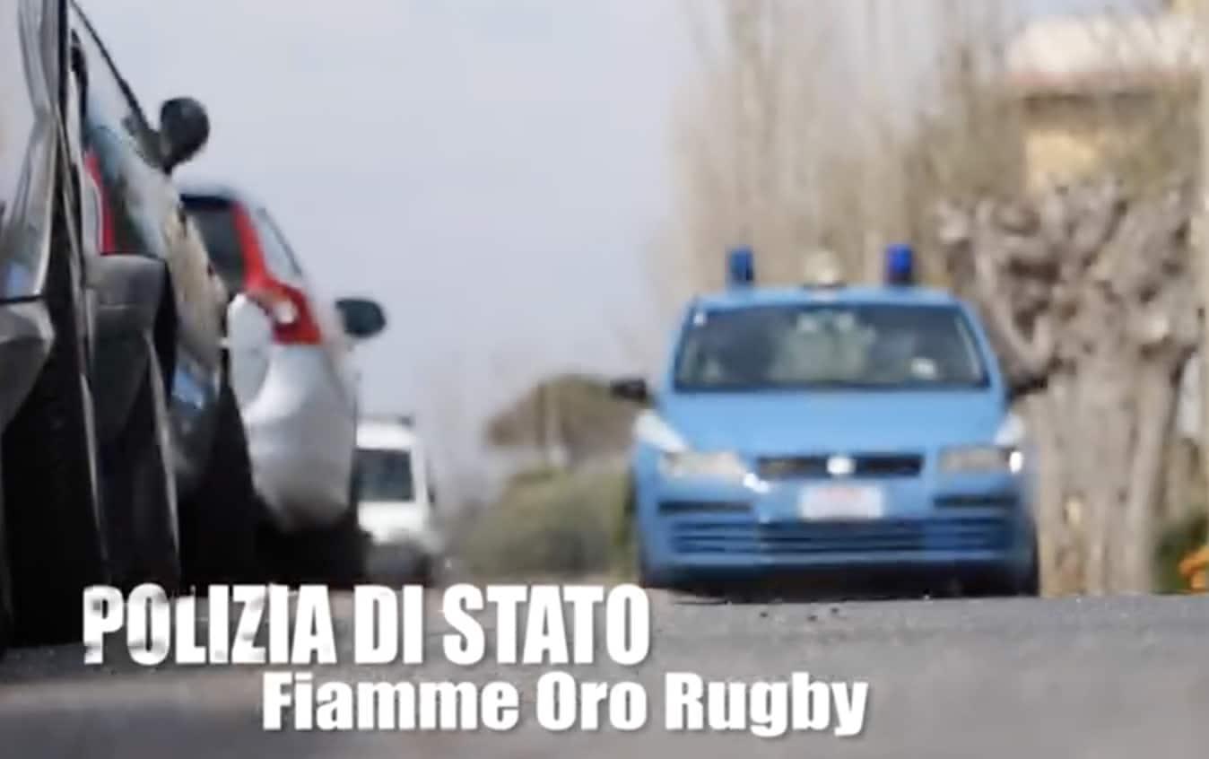 La solidarietà delle Fiamme Oro rugby