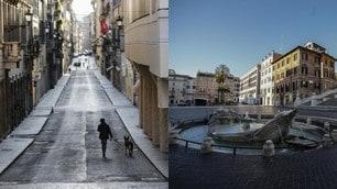 Coronavirus, da via Condotti a piazza di Spagna: Roma deserta