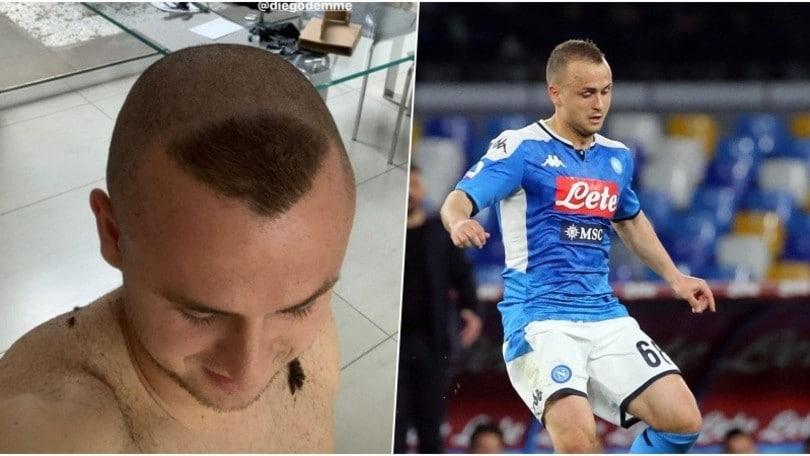 Napoli, Lobotka lancia la 'Ronaldo challenge': ecco il nuovo look