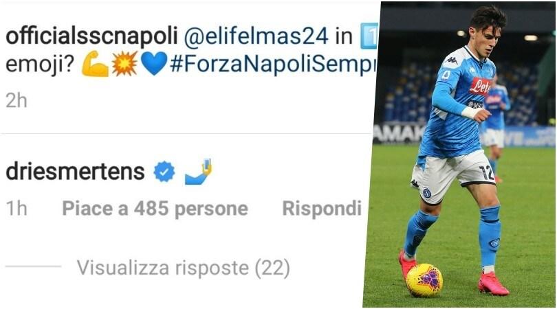 """Napoli, l'iniziativa social: """"Descrivi Elmas con un'emoticon"""""""