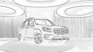 Audi e Mercedes, disegni dei bozzetti per i bambini: gli scatti