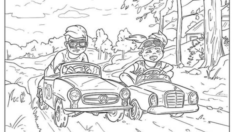 Audi e Mercedes: tanti disegni gratis per i bambini a casa