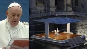 Papa Francesco a San Pietro per la benedizione Urbi et Orbi
