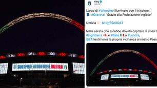 Coronavirus, Wembley con il tricolore dell'Italia