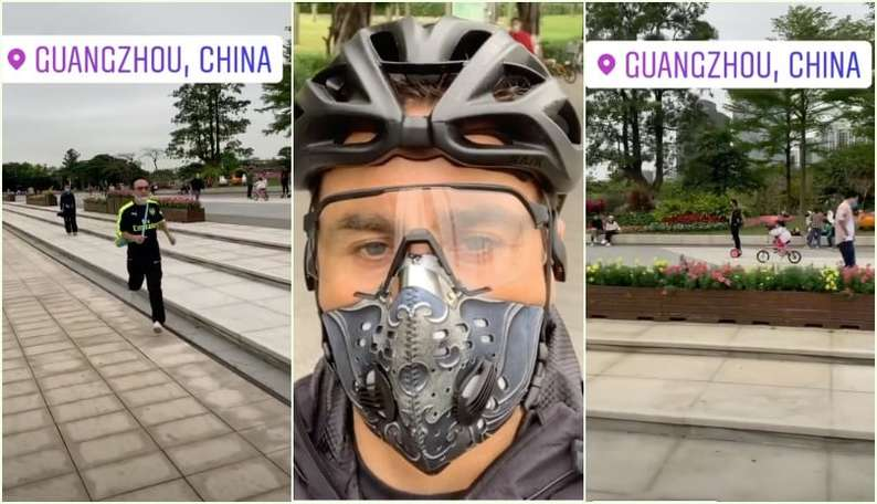 "Coronavirus, Cannavaro in bici in Cina: ""La vita riparte"""