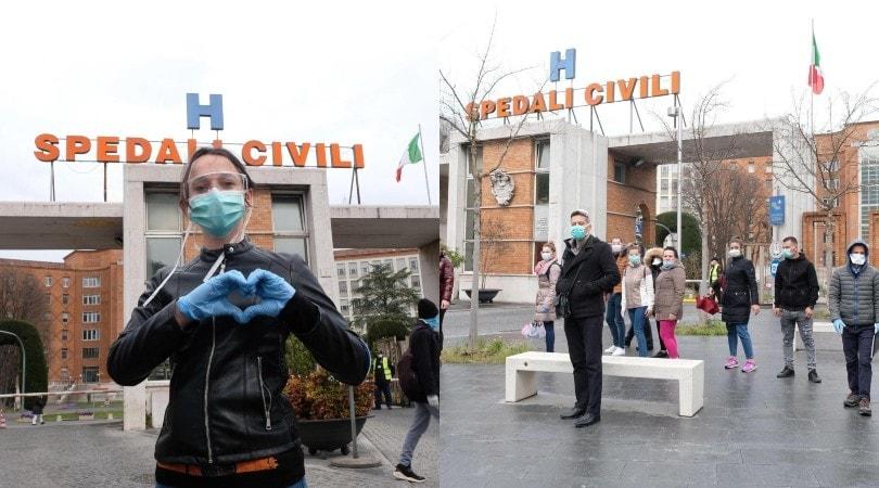 Coronavirus, i medici venuti dall'Albania al Spedali Civili di Brescia