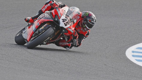 SBK, test Catalogna: Redding