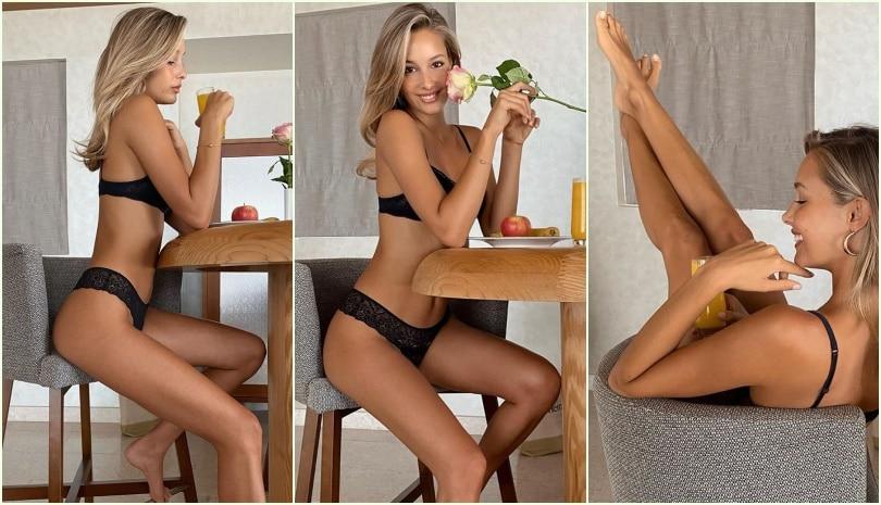 Viky Varga, sexy quarantena: colazione in intimo a casa