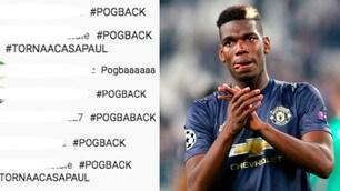 Juve, i tifosi sognano Pogba: impazza l'hashtag #POGBACK in diretta Youtube