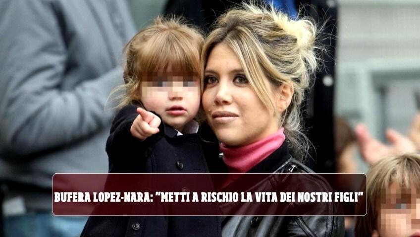 """Bufera Maxi Lopez-Wanda Nara: """"Metti a rischio la vita dei nostri figli!"""""""