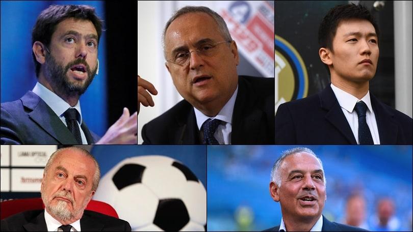 Serie A, solo pochi club non vogliono giocare: tutte le posizioni