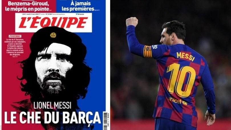 Messi come Che Guevara, la prima pagina dell'Equipe diventa virale