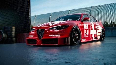 Alfa Romeo Giulia DTM Rendering: le immagini