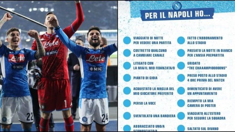 Napoli, l'iniziativa per i tifosi: