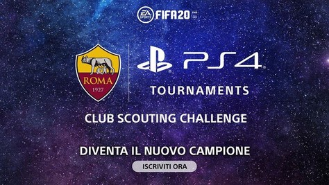 PlayStation e AS Roma lanciano Club Scouting Challenge su FIFA 20
