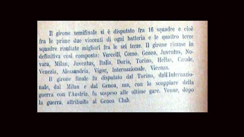 """Lazio, scudetto 1915: """"Ecco la prova ufficiale che condanna il Genoa"""""""