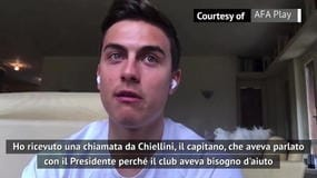 """Dybala: """"Taglio salari? Mi ha chiamato Chiellini..."""""""