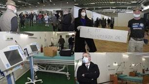 Coronavirus, alla Fiera di Bergamo è pronto l'ospedale da campo