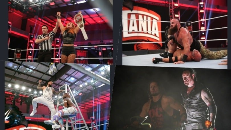 WWE WrestleMania 36 (Part 1), Undertaker vince il Boneyard match