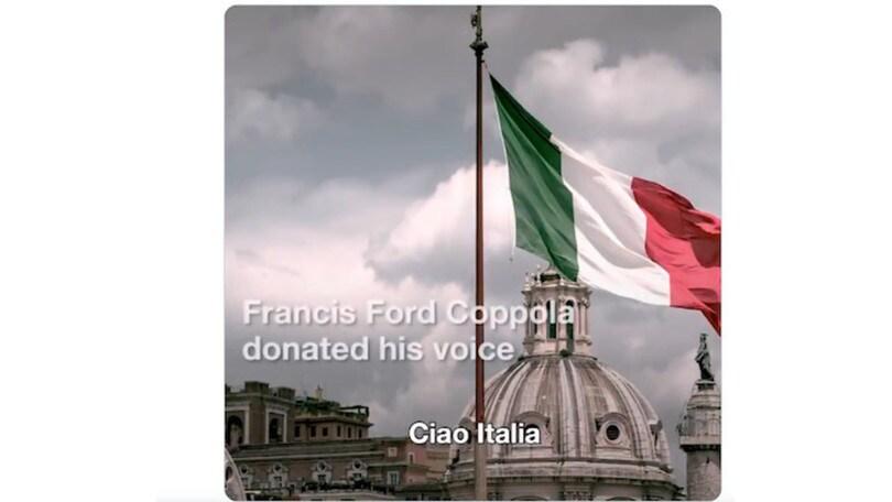 Coronavirus, Fiat e Francis Ford Coppola: abbraccio d'amore all'Italia VIDEO