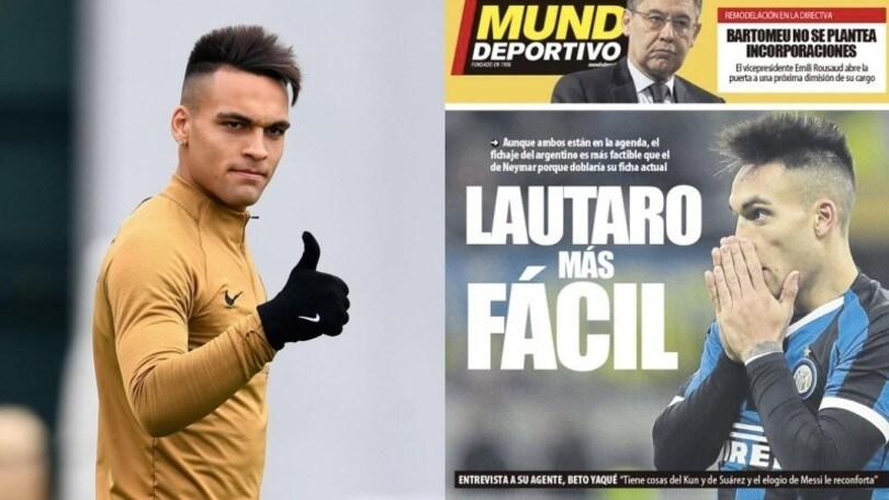 """""""Lautaro Martinez al Barcellona è molto più fattibile di Neymar"""""""