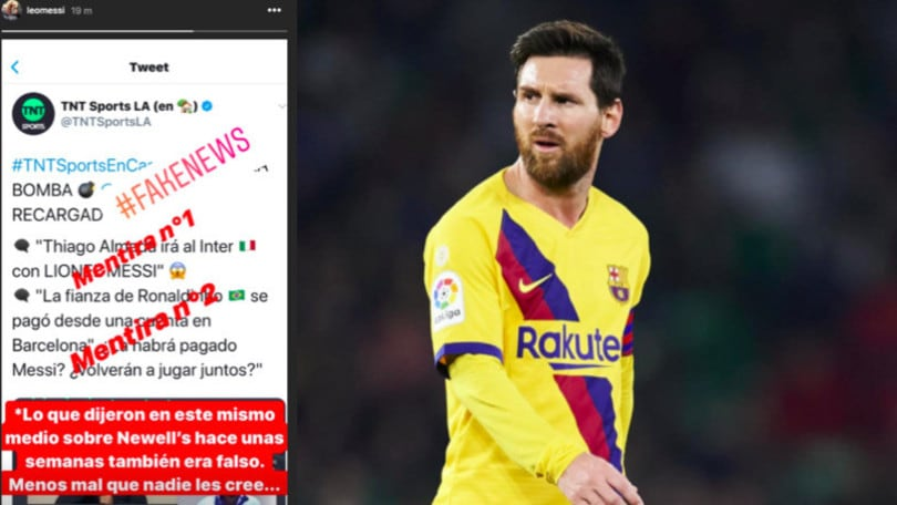 Messi all'Inter, arriva la smentita su Instagram:
