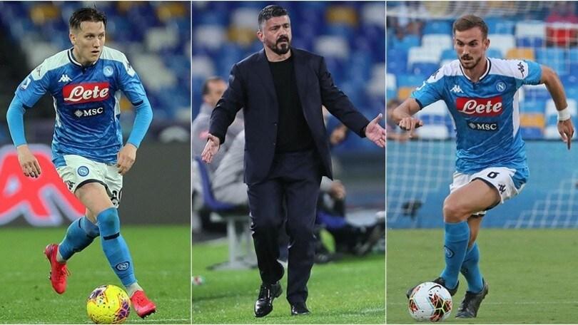 """Zielinski e Fabian Ruiz, Gattuso al Napoli: """"Vietato toccarli"""""""