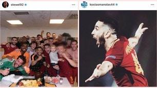 Roma, due anni fa l'impresa col Barça: ecco cosa avevano postato i giocatori