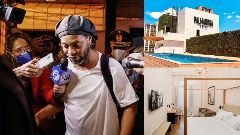 """Ronaldinho tra smart tv, palestra e piscina: ecco la sua """"prigione d'oro"""""""