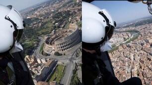 Coronavirus, a Roma controlli anche in elicottero