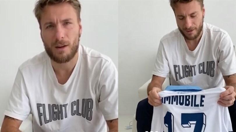 Lazio, Immobile mette all'asta la maglia della finale di Coppa Italia