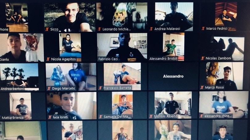 I giovani azzurri si allenano on line