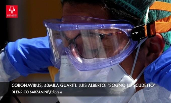 """Coronavirus, 40mila guariti. Luis Alberto: """"Puntiamo allo scudetto"""""""