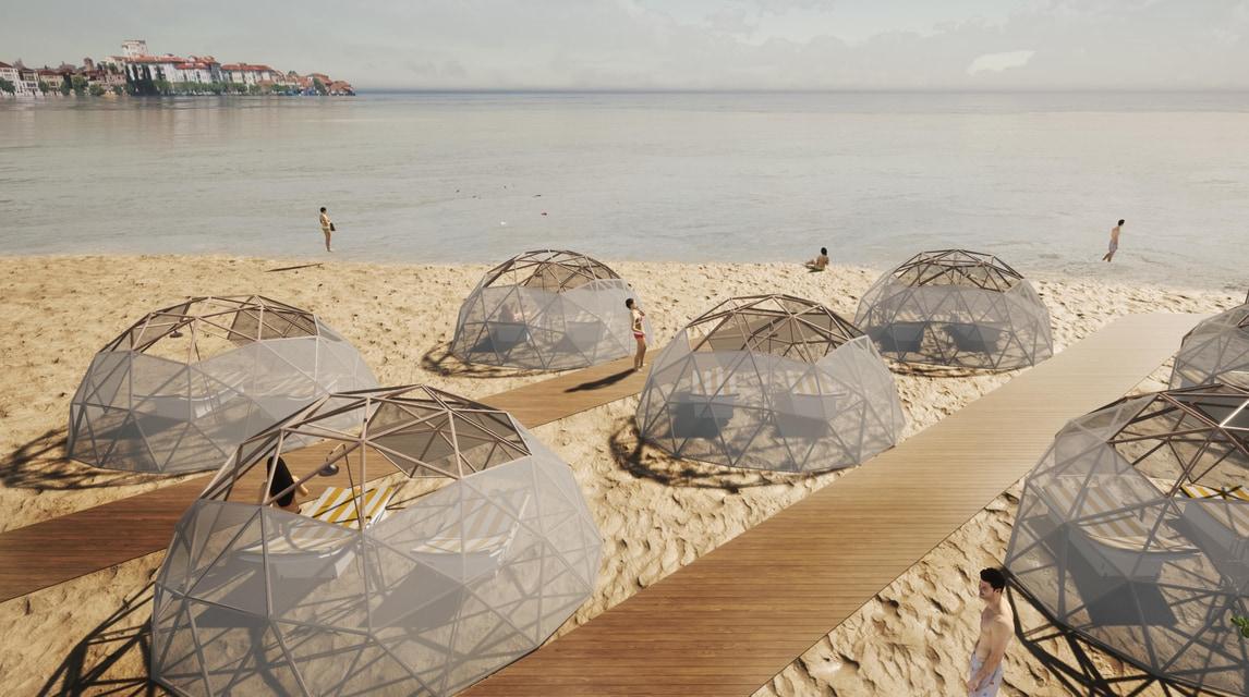 Coronavirus, al mare con le cupole in bamboo: altra folle idea per l'estate