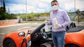 Sanificare l'auto contro il coronavirus FOTO