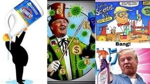 Trump e il disinfettante anti Coronavirus: sui social impazzano le ironie