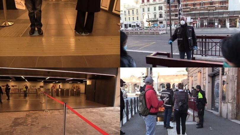 Fase 2, a Roma al via le simulazioni dei viaggi sulla metro VIDEO